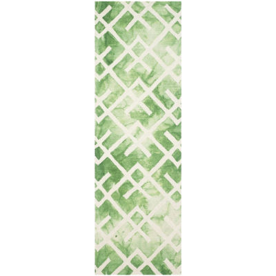Safavieh Dip Dye Collection Earleen Geometric Runner Rug