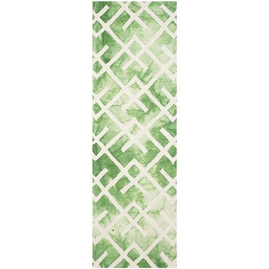 Safavieh Dip Dye Collection Earleen Geometric Runner Rug