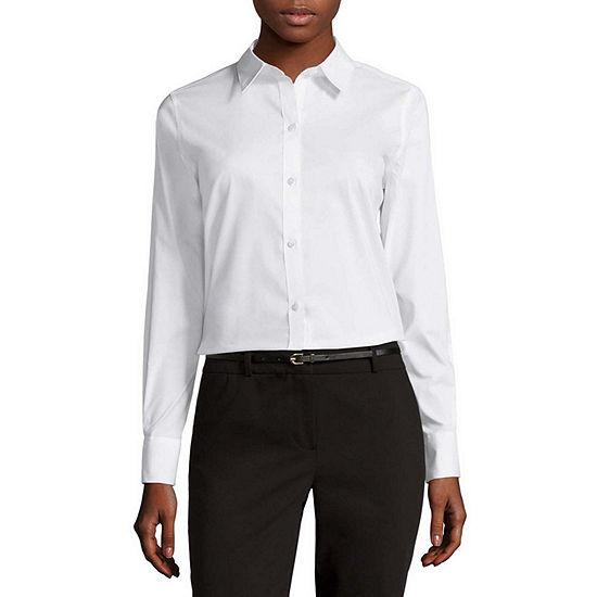 985c2b3404 Liz Claiborne Long Sleeve Wrinkle Free Shirt JCPenney