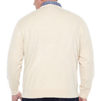 Claiborne Crew Neck Long Sleeve Pullover Sweater - Big and Tall