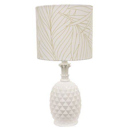 Decor Therapy Pineapple Lamp, One Size , White