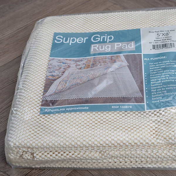Tayse Super Grip Traditional Solid Runner Rug Pad