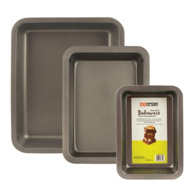 Range Kleen Nonstick Bakeware 3pc Roasting Set 3-pc. Non-Stick Bakeware Set