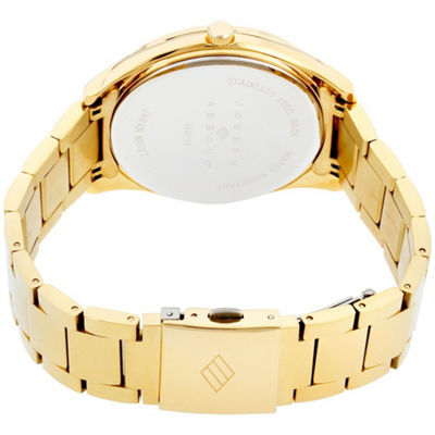 Joseph Abboud Mens Gold Tone Bracelet Watch-Ja3198g648-005
