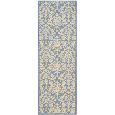 Safavieh Courtyard Collection Lyla Floral Indoor/Outdoor Runner Rug