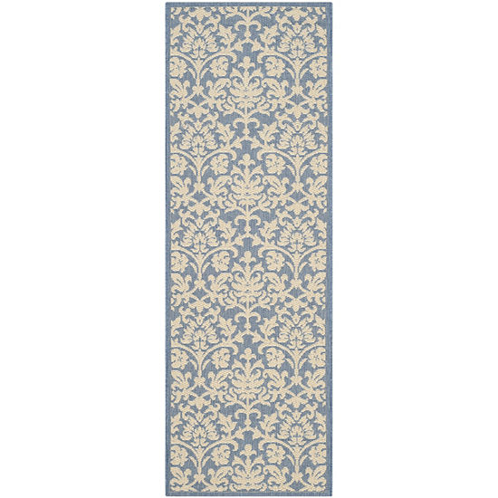 Safavieh Courtyard Collection Lyla Floral Indoor Outdoor Runner Rug