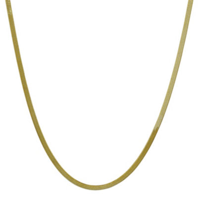 Solid Herringbone 16 Inch Chain Necklace