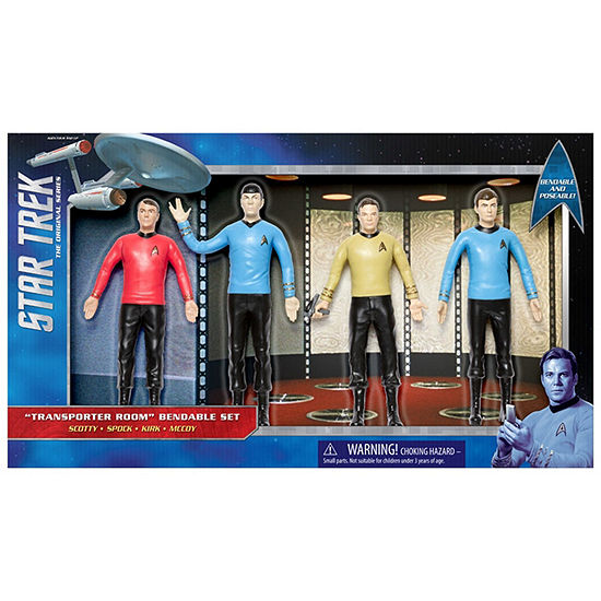 "Nj Croce Star Trek Tos: Transporter Room 6"" ActionFigure Boxed Set - Scotty  Spock  Kirk  Mccoy"