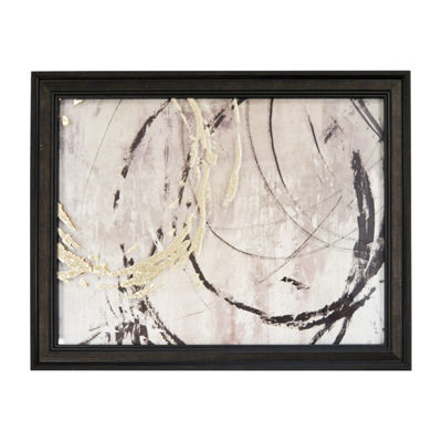 New View Open Circles Metallic Printed Glass Canvas Art