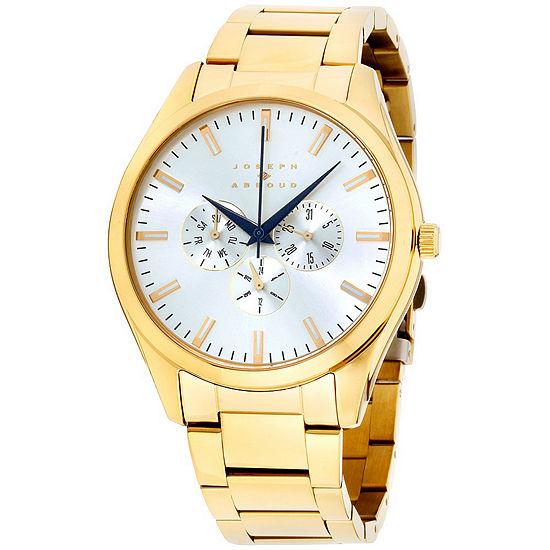 Joseph Abboud Mens Gold Tone Bracelet Watch-Ja3198g648-005