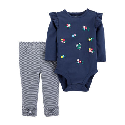 Carter's 2pc Bodysuit  Pant Set-Baby Girl