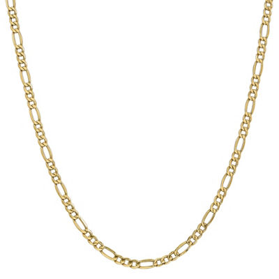 14K Gold Semisolid Figaro 16 Inch Chain Necklace