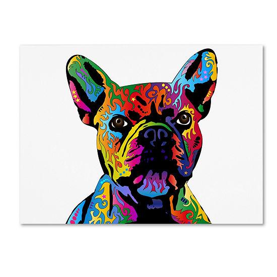 Trademark Fine Art Michael Tompsett French BulldogGiclee Canvas Art
