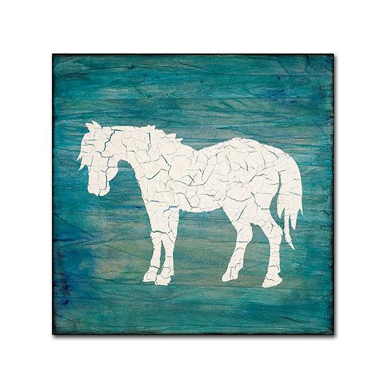 Trademark Fine Art Light Box Journal Farm Horse Giclee Canvas Art