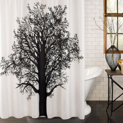 Excell Home Fashions Tree Silhouette Shower Curtain