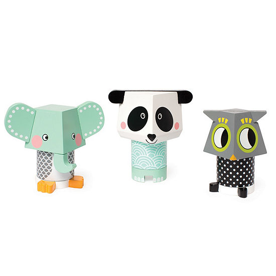 Manhattan Toy Mix And Match Magnetic Stackers (Panda  Owl  Elephant)