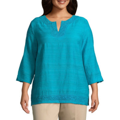 Alfred Dunner Scottsdale Texture Tunic - Plus