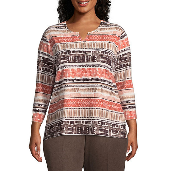 Alfred Dunner Biadere Tee - Plus