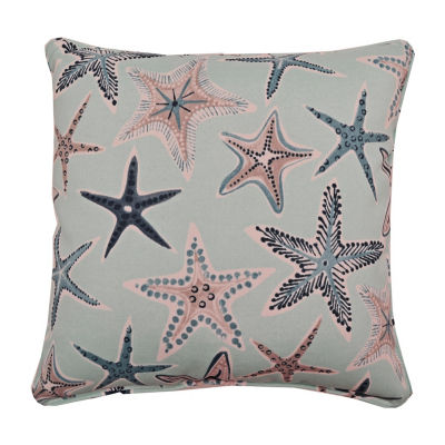 Starfish Square Corded Outdoor Pillow