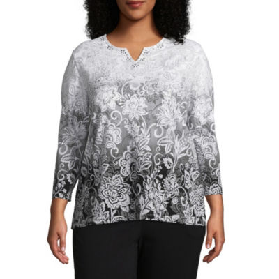 Alfred Dunner Scroll Ombre Tee - Plus