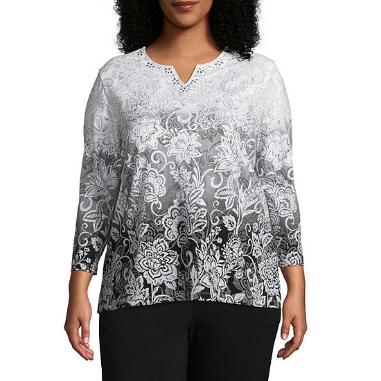 Alfred Dunner Scroll Ombre Tee Plus