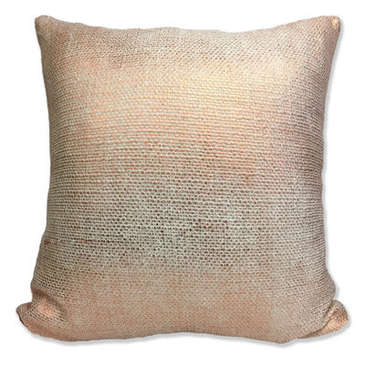 Foil Weave Square Throw Pillow