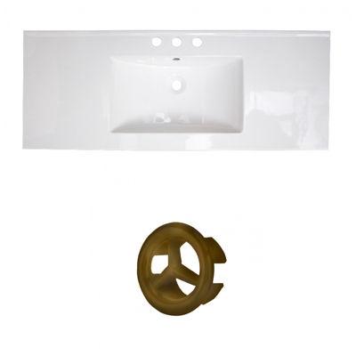 48-in. W 3H8-in. Ceramic Top Set In White Color