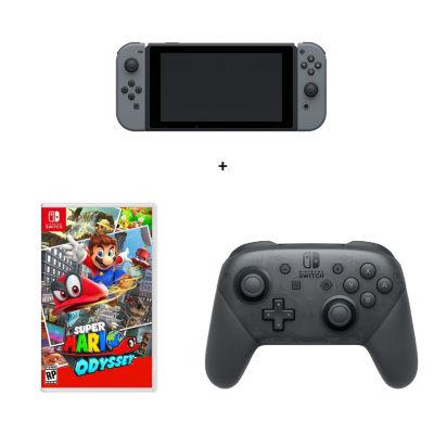 Mario Odyssey Nintendo Switch Bundle - Gray