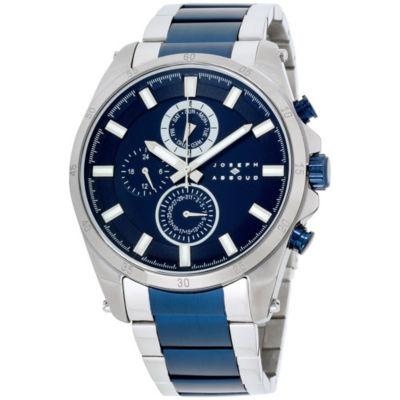 Joseph Abboud Mens Two Tone Strap Watch-Ja3199s648-007