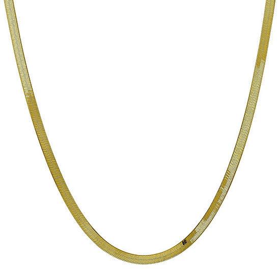 Solid Herringbone Chain Necklace