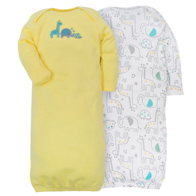 Gerber 2-pk. Unisex Baby Bodysuit Set- Yellow Zoo