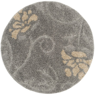 Safavieh Shag Collection Brock Floral Round Area Rug