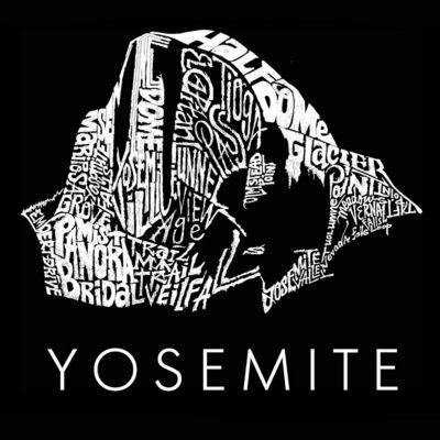 Los Angeles Pop Art Women's Raglan Word Art T-shirt - Yosemite