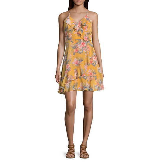 Almost Famous Sleeveless Skater Dress-Juniors