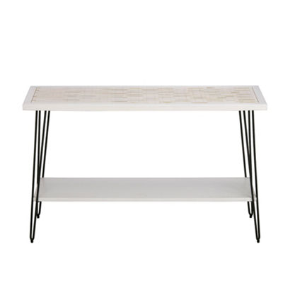 Ink+Ivy Woodbrick Console Table