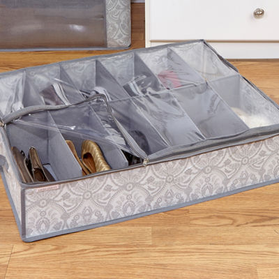 Non-Woven Under Bed Shoe Box 12 Pairs -Almeida