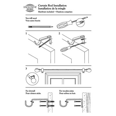 Ogee 1 IN Curtain Rod
