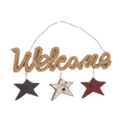 Patriotic Jute Welcome Wall Sign