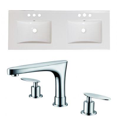 48-in. W 3H8-in. Ceramic Top Set In White Color -CUPC Faucet Incl.