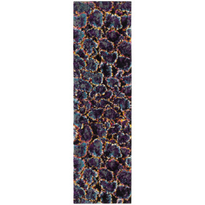 Safavieh Fruits Abstract Shag Rectangular Runner