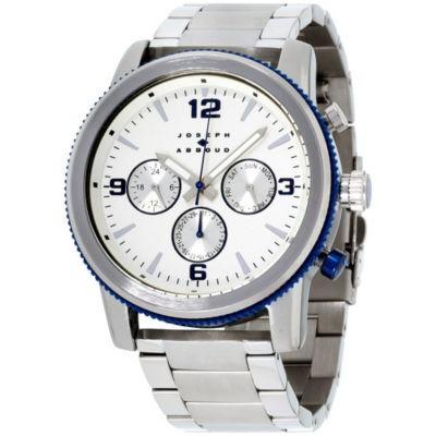Joseph Abboud Mens Silver Tone Strap Watch-Ja3200s648-041