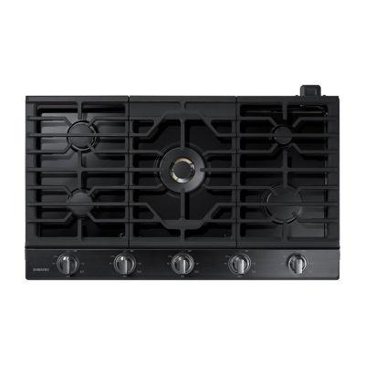 "Samsung 36"" Gas Cooktop with 22K BTU True Dual Power Burner"
