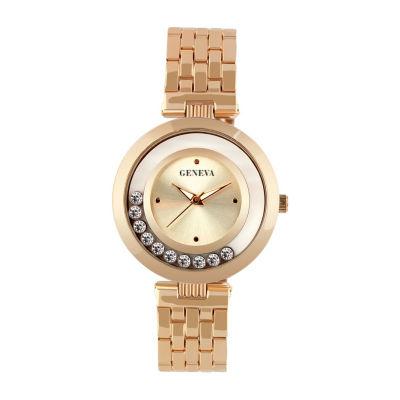 Geneva Womens Rose Goldtone Bracelet Watch-Jry6404rg