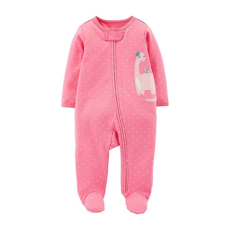 Carters Sleep and Play – Baby, Girls, Newborn, Pink Dino