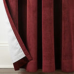 Liz Claiborne Holland Velvet 100% Blackout Grommet- Top Curtain Panel