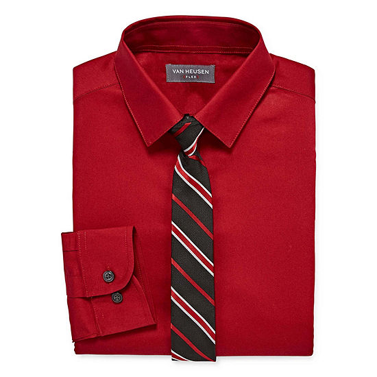 Van Heusen Shirt + Tie Set Boys 4-20 Regular & Husky