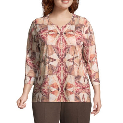 Alfred Dunner Sunset Canyon Stained Glass Blouse - Plus