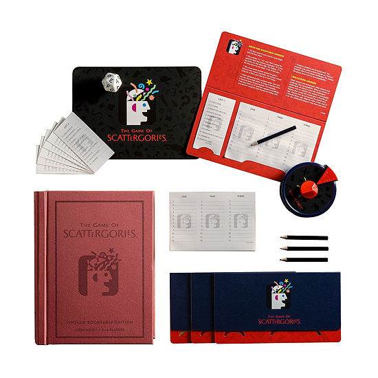 Winning Solutions Scattergories Linen Book Vintage Edition