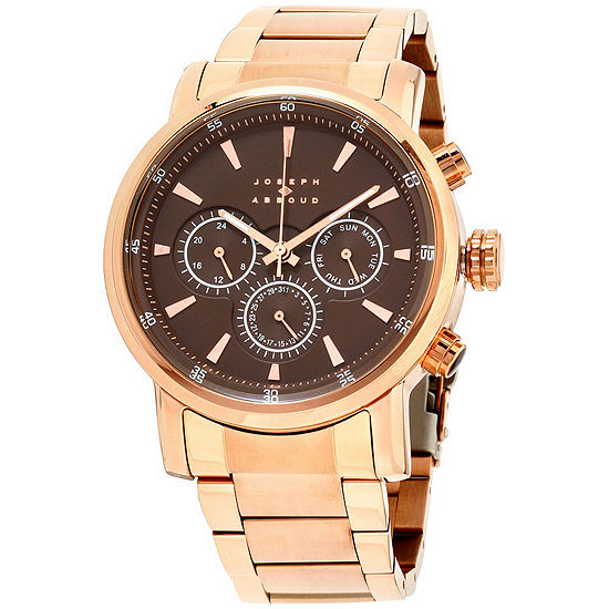 Joseph Abboud Mens Rose Goldtone Strap Watch Ja3201rg648 605