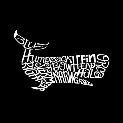 Los Angeles Pop Art Women's Raglan Word Art T-shirt - Humpback Whale